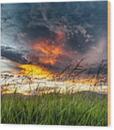 Country Sunset In Valenca - Brazil Wood Print