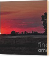 Country Sunset Wood Print