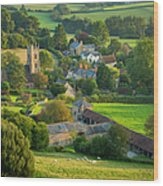 Country Village - England Wood Print