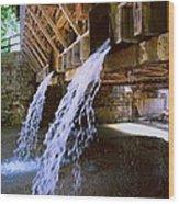 Country Waterfall Wood Print