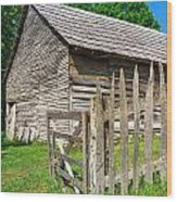 Country Weathered Barn Wood Print