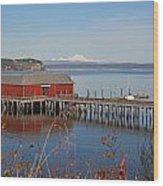 Coupeville Jetty Wood Print