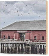 Coupeville Wharf Wood Print