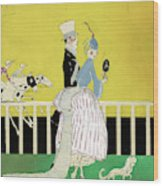 Couple At The Races, 1916 Wood Print