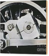 Coupling Rod And Driver Wheels For A Steam Locomotive Wood Print