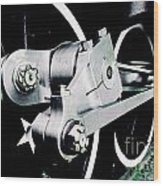 Coupling Rods And Driver Wheels For A Steam Locomotive Wood Print