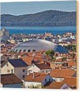 Coupola Sports Hall Landmark In Zadar Wood Print