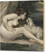 Courbet Nude Wood Print