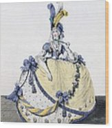 Court Dress, Fig. 106 From The Gallery Wood Print