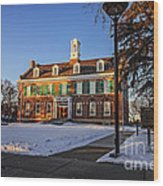 Court House In Winter Time Wood Print