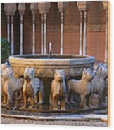 Court Of The Lions In The Alhambra Wood Print