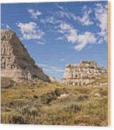 Courthouse And Jail Rocks - Bridgeport Nebraska Wood Print