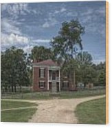 Courthouse At Appomattox Court House Wood Print by Stephen Gray
