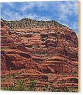 Courthouse Butte Rock Formation Sedona Arizona Wood Print