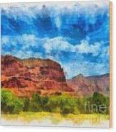 Courthouse Butte Sedona Arizona Wood Print