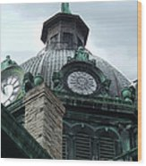 Courthouse Dome In Binghamton Ny Wood Print