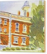 Courthouse In August Sun Wood Print