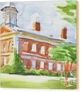 Courthouse In Summery Sun Wood Print