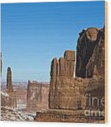 Courthouse Towers Arches National Park Utah Wood Print