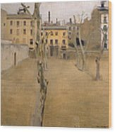 Courtyard Of The Old Barcelona Prison. Courtyard Of The Lambs Wood Print