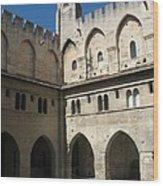 Courtyard - Palace Avignon Wood Print
