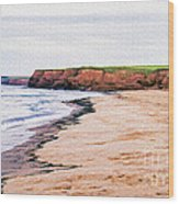 Cousins Shore Prince Edward Island Wood Print by Edward Fielding