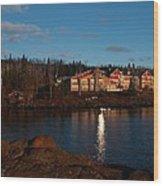 Cove Point Lodge Wood Print