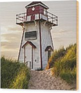 Covehead Harbour Lighthouse Wood Print