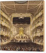 Covent Garden Theatre, From Microcosm Wood Print