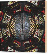 Coventry Cathedral Windows Montage Wood Print