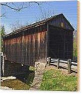 Jediha Hill Covered Bridge In Mt. Healthy Wood Print