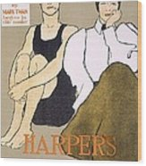 Cover Of Harpers Magazine, 1896 Wood Print