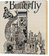 Cover Of The Butterfly Magazine Wood Print