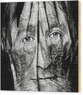 Cover Thy Faces Wood Print