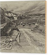 Coverack Harbour  Wood Print