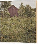 Covered Barn Wood Print