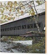 Covered Bridge Albany Wood Print