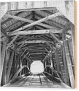 Covered Bridge Architecture Wood Print