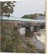 Covered Bridge  Bath Wood Print