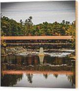 Covered Bridge Conway New Hampshire Wood Print