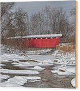 covered bridge Everett rd. Wood Print