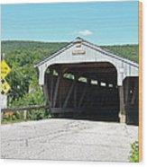 Covered Bridge For Pedestrians Wood Print