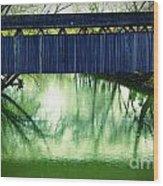 Covered Bridge In Kentucky Wood Print