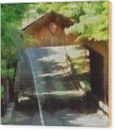 Covered Bridge In Sleeping Bear Dunes National Lakeshore Wood Print