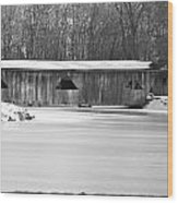 Covered Bridge Wood Print by Jennifer  King