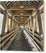 Covered Bridge Littleton New Hampshire Wood Print