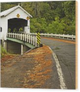 Covered Bridge Rochester 1 Wood Print