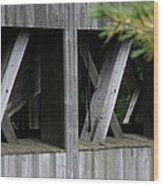 Covered Bridge Windows  Wood Print