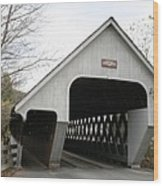 Covered Bridge - Woodstock Wood Print