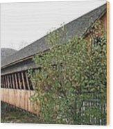 Covered Bridge - Woodstock - Vermont Wood Print